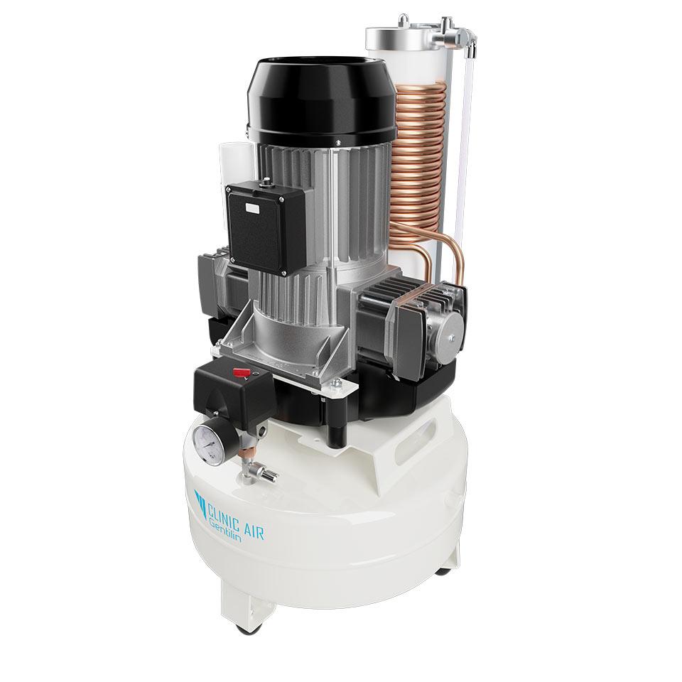 Clinic Air Gentilin: Öljytön Mäntäkompressori